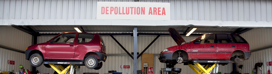 Car depollution area