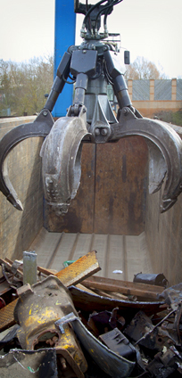 Crane and Compacter