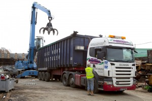 Scrap sorting and transport service